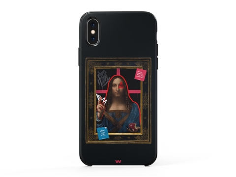 iPhone 11 Pro Max the graffiti art Salvator Mundi Art Telefon Kılıfı