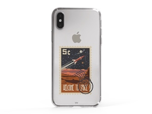 iPhone SE Space Theme Stamp Phone Case
