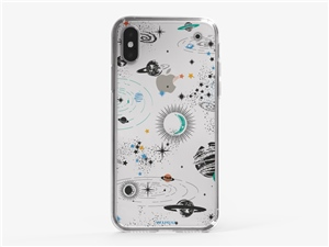 iPhone XS Colorful Space Phone Case