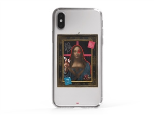 iPhone XS the graffiti art Salvator Mundi Art Telefon Kılıfı