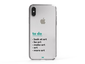 iPhone XS To Do Art Written Phone Case