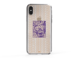 iPhone XS Wild Side Of Me Written Tiger Phone Case