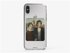 iPhone XS Yesilcam Farmer Couple Gothic Phone Case