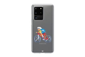 S20 Ultra Pixel Bicyle Phone Case